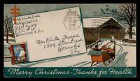 DR WHO 1943 GREENSBORO NC MILITARY FREE FRANK CHRISTMAS SEAL CACHET  f97165
