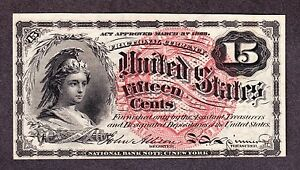 US 15c Fractional Currency Note 4th Issue FR 1267 Ch CU