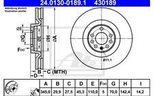 ATE Juego de 2 discos freno 345mm ventilado para OPEL VECTRA HYUNDAI