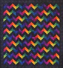 Starr Designs Quilt Kit Rave Wave Throw Size Hand Dyed Cotton Fabrics