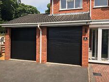 Black Ral Insulated Electric Rollerdor Garage Modern Fitted Autoroll Up Supplied