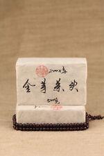 500g brick CaiCheng ripe puer tea puerh cooked black tea JinYaChaTou Year 2005