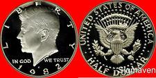 1982 S Kennedy Half Dollar Deep Cameo Gem Proof No Reserve