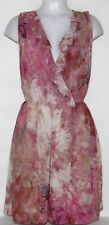 NWT Rachel Rachel Roy Raina Sleeveless Printed Ruffled Dress MULTI-COLOR/6