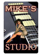 Personalized STUDIO Sign Printed with YOUR NAME..Custom Guitar Sign Hi gloss.LP