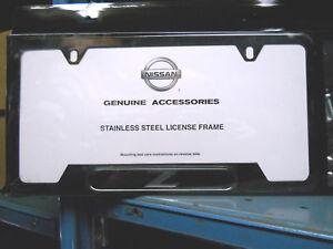 Genuine Nissan 350Z, 370Z, Z Black License Plate Frame NEW OEM