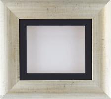 PLATA ANTIGUA CAJA Profunda marco fotos MEDALLAS 3d 2d OBJETOS Arte Negro