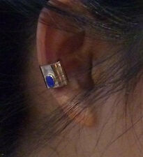 Ear Cuff 14kt Gold Filled with Tiny Blue Cat's Eye Stone or Choose Another Color