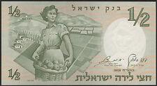 Israel 1/2  Lira 1958 Pick 29