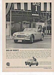 1959 Austin Healey 3000 Original Advertisement Print Car Ad
