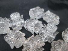 10 Novelty 25mm Christmas Angel Pony Beads - Silver Sparkle