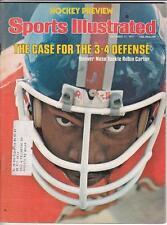 RUBIN CARTER Sports Illustrated magazine Oct 1977 Denver Broncos EX