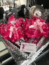 Show Socks Satin Diamanté pink / cerise Frilly Ankle  Jazziejems Boutique ❤