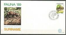 Republiek Suriname FDC E 129A. Surinaamse otters. 1989.