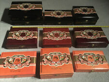 LOT OF 10 MF MY FATHER GARCIA VARIOUS SIZES CIGAR BOXES BOX JEWELRY WOODEN WOOD