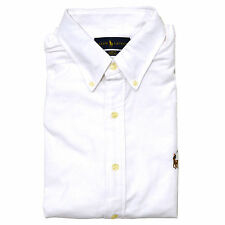 840a36b6f4f5 Polo Ralph Lauren Shirt Mens Slim Fit Stretch Oxford Buttondown Long Sleeve  XL White