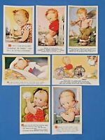 Collection of 7 Vintage Bamforth Comic Tempest Kiddy Series Postcards AM8