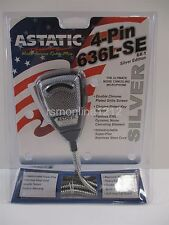 Astatic 636L-SE Silver Edition Pre-Wired 4 Pin Cobra CB Radio Microphone