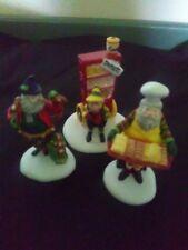 Set of 3 Department 56 Baker Elves Heritage Collection Figurines #5603