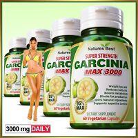 GARCINIA CAMBOGIA CAPSULES Weight Loss Fat Burner Diet Pills slimming Max 95%.