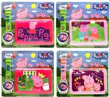 NEW PEPPA PIG & MUDDY GEORGE PIG KID CHILD ACCESSORIES WRIST WATCH & WALLET