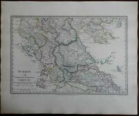 Europe Ottoman Empire Macedonia Greece Euboea c. 1840 SDUK detailed antique map