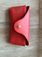 Limited Edition Red Ray Ban Soft Sunglasses/Eyeglasses Case W/ Cleaning Cloth