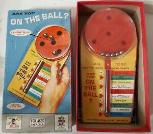 """Vintage game """"Are you ON THE BALL"""" Skill Tester Milton Bradley (1964) Nostalgia"""