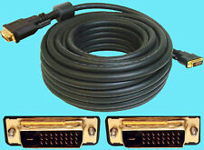 ULTRA GOLD video cable DVI-D dual link 50ft CL2 24AWG NEW 50 foot male to male