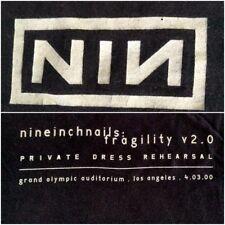 Nine Inch Nails Nin Fragility 2.0 Dress Rehearsal T-Shirt L 2000 Los Angeles Men