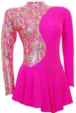 Skating Dress - Pink Multi Hologram/Toffee Pink Lycra L/S(S1000)