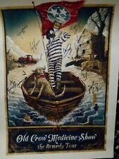 Poster of The Old Crow Medicine Show The Remedy Tour Signed by band *Very Rare*