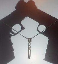 Mens Ball Chain Bullet Pendant Necklace