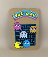 Vintage Pac-Man Wall Cork Board Bulletin Tack Sign 1980 Bally Arcade Retro VTG