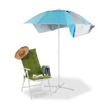 Strandmuschel Schirm, 2 in 1 Sonnenschirm, Strandzelt Sonnenschutz, Windschutz