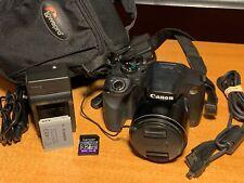 Canon PowerShot SX520 HS 16.0MP Digital Camera - Black + Case + SD Card