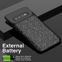 5000mAh External Portable Battery Charger Case Power Bank Extended samsung S10 +