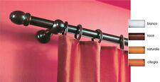 bastone in legno a strappo per tenda Ø mm 35 noce scuro cm 300 bastoni tende