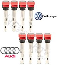 Audi A6 A8 Quattro Q7 S5 R8 VW Touareg Set of 8 Ignition Coils w/ Connector