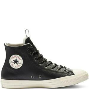 Converse 162386C CTAS Leather Trainers Hi Sneaker Black/Driftwood M7 US #CV15