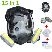 Set 15 in 1 Full Face Gas Mask For 6800 Facepiece Dust Paint Spraying Respirator