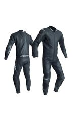RST R-18 Black 1PC Motorbike CE Rated Leather Racing Suit Race Hump
