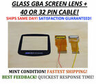 Nintendo Game Boy Advance Cable Backlight Backlit Adapter AGS101 + Glass Screen