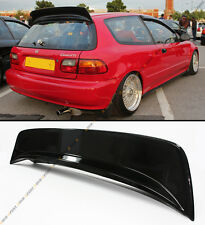 FOR 1992-95 CIVIC EG HATCHBACK PAINTED GLOSSY BLK BYS HIGHKICK REAR SPOILER WING