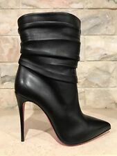 NIB Christian Louboutin Ishtar 100 Black Leather Ankle Heel Bootie 42 $1545