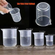4x Kunststoff Messbecher kit Meßkanne Meßbecher 50/150/250/500ml für Labor Küche