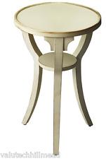 Alcott Hill okerman SIDE TABLE in effetto invecchiato Cottage Bianco - 61cm H