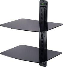 2 Tier Black DVD shelf with spirit level Sky Xbox360 Virgin Nintendo Wii 3D LED