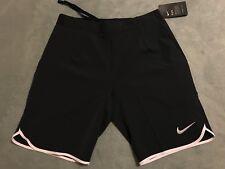 "Nike Gladiator Premium 9"" Tennis Men's sz MEDIUM M Shorts Black/White 728980 010"