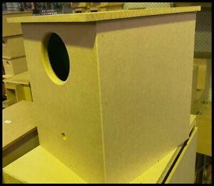MDF Finch Nest Box - Medium size  Parrot- 30 x 28 x 30-Code D